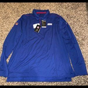 NWT Nike NFL Giants Long Sleeve Polo Men Size 3XL